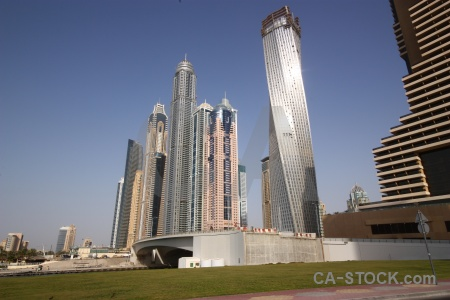 Building asia grass uae sky.