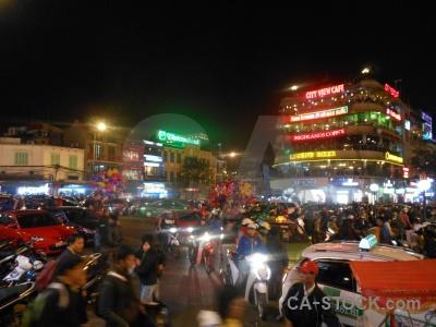 Building asia hanoi vietnam motorbike.