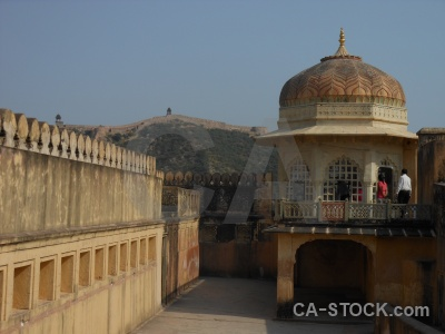 Building asia jaipur fort dome.
