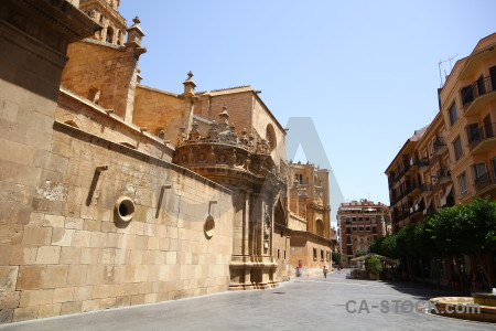 Building brown cathedral of murcia spain iglesia catedral de santa maria.
