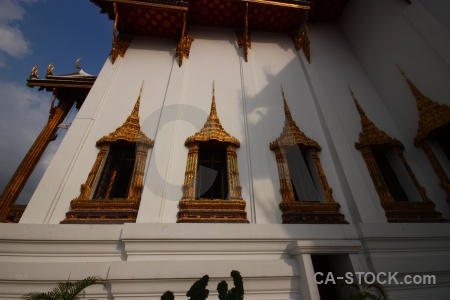 Building buddhism ornate grand palace bangkok.