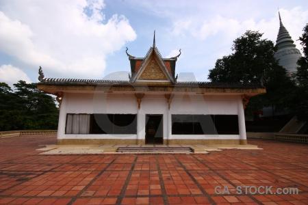 Building buddhism temple cambodia phnom penh.