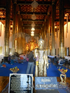 Building buddhist chiang mai person gold.