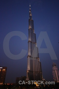Building burj khalifa night uae middle east.