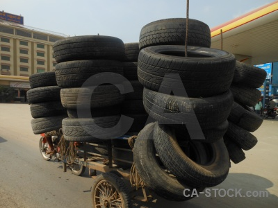 Building cambodia southeast asia tyre road.