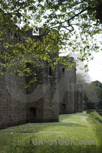 Building castle white green.