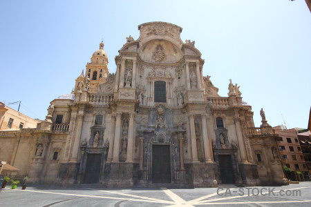 Building cathedral of murcia santa maria spain europe.