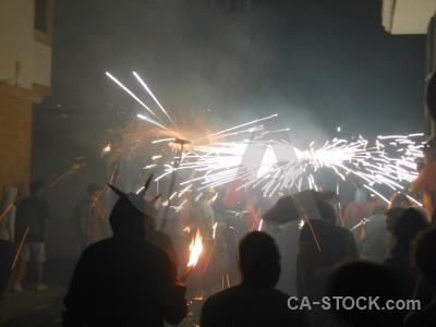 Building correfocs fiesta firework javea.