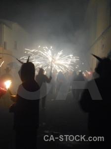 Building correfocs javea firework fiesta.