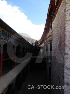 Building drepung monastery tibet lhasa altitude.