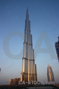 Building dubai asia burj khalifa skyscraper.