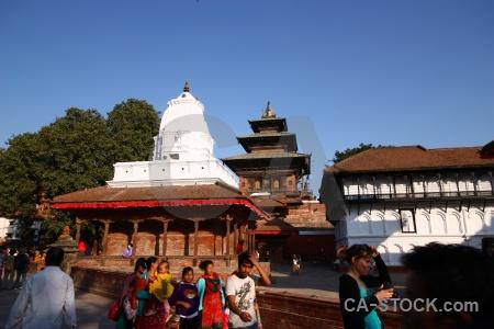 Building durbar square buddhism hanuman sky.