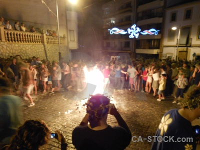 Building fiesta javea fire flame.