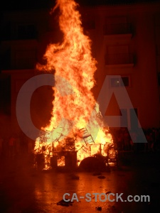 Building fire javea flame fiesta.