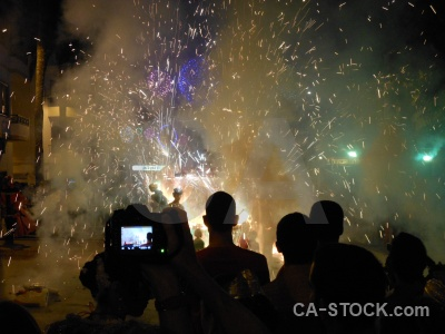 Building firework fiesta javea person.