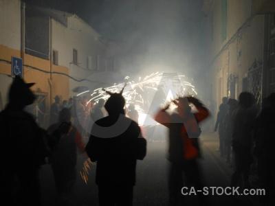 Building firework javea correfocs fiesta.