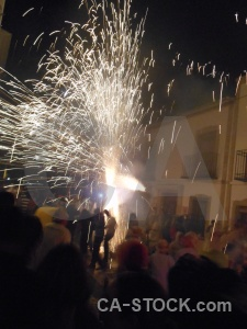 Building firework person javea correfocs.