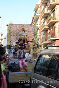 Building float javea fiesta person.