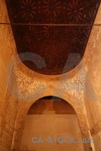 Building fortress interior brown orange.