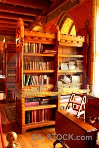 Building interior object furniture bookshelf.