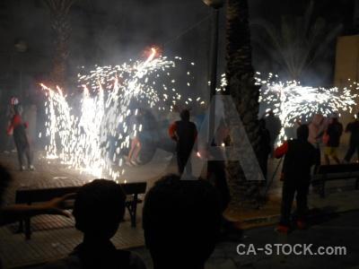 Building javea fiesta correfocs firework.