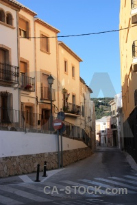 Building javea spain blue sky.