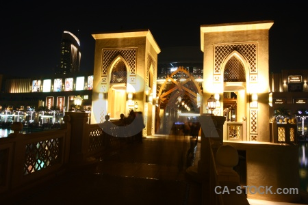 Building light night middle east asia.