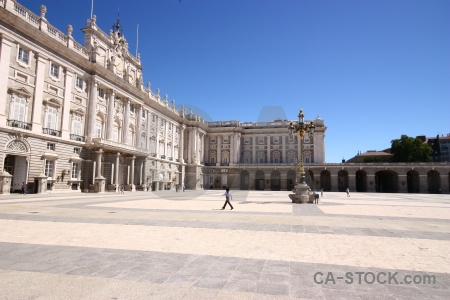 Building madrid europe royal palace.