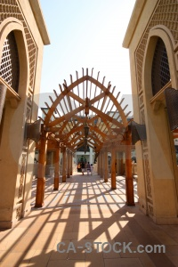 Building middle east asia archway uae.