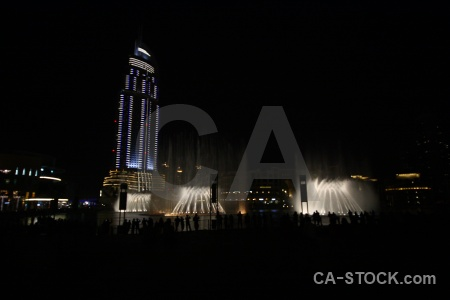 Building middle east asia dubai fountain.