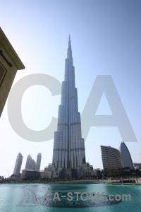 Building middle east asia western burj khalifa.
