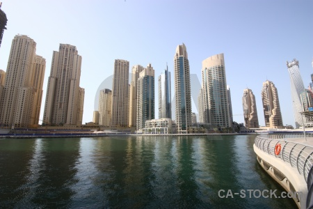 Building middle east western asia uae canal.
