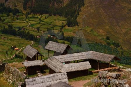 Building mountain stone urubamba valley pisac.