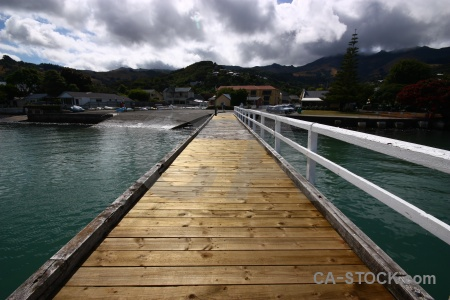 Building new zealand pier jetty akaroa.