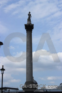 Building ornate nelsons column.