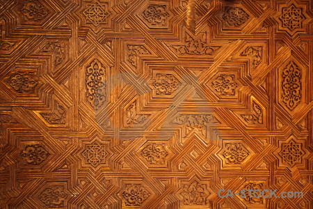 Building pattern fortress texture orange.