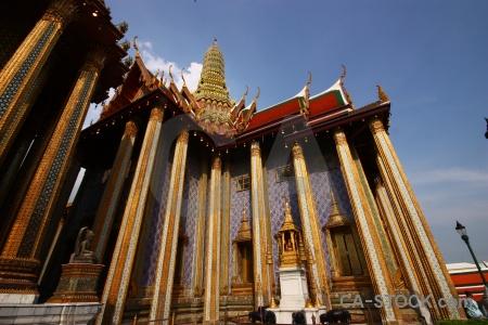 Building pillar buddhism temple of the emerald buddha.