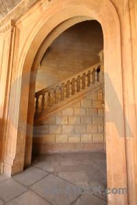 Building roman alhambra granada interior.