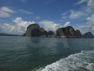 Building southeast asia cliff ko panyi koh panyee.
