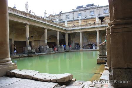 Building uk pool roman baths person.