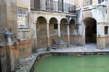 Building water europe roman bath.