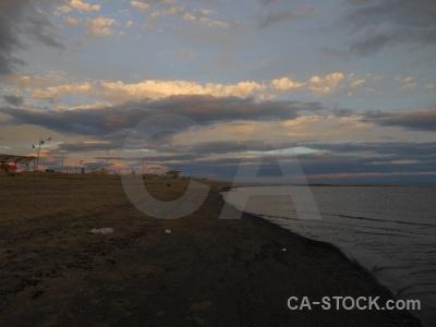 Building water sky sea patagonia.