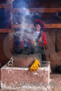 Building wool making andes south america chinchero.