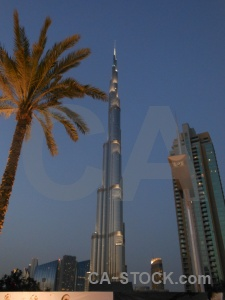 Burj khalifa night building asia dubai.