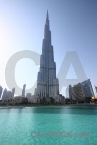 Burj khalifa sky building asia pool.