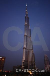 Burj khalifa skyscraper dubai middle east western asia.
