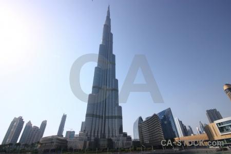 Burj khalifa skyscraper sky uae building.