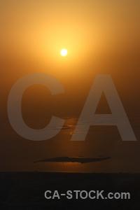 Burj khalifa sunrise sun dubai aerial.