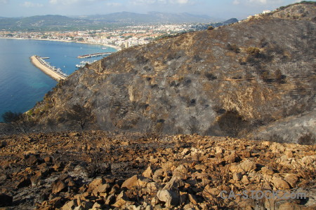 Burnt ash montgo fire europe javea.