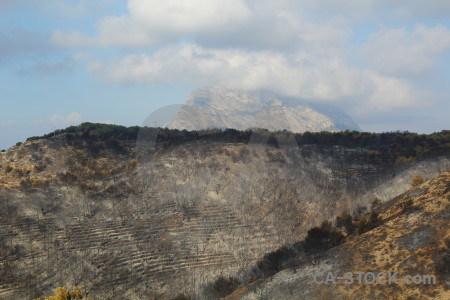 Burnt ash spain javea europe.